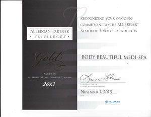 2013 Allergan Gold Partner Privileges, Awards and Community Service