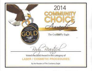 2014 Gold Award Community Choice, Awards and Community Service