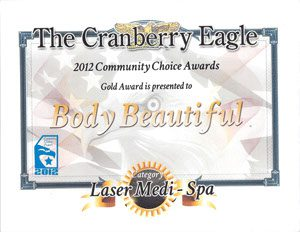 Cranberry Eagle BB Community Choice Awards Gold, Awards and Community Service