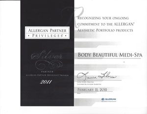 2011 Allergen Silver Partner Privileges, Awards and Community Service