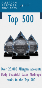 Allergan Top 500 Preferred Partners, Awards and Community Service