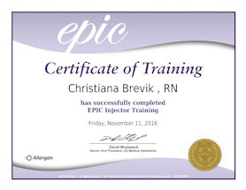 EPIC Certificate RN Expert Injector