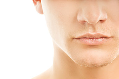Close-up shot of a part of man's face Kybella Results