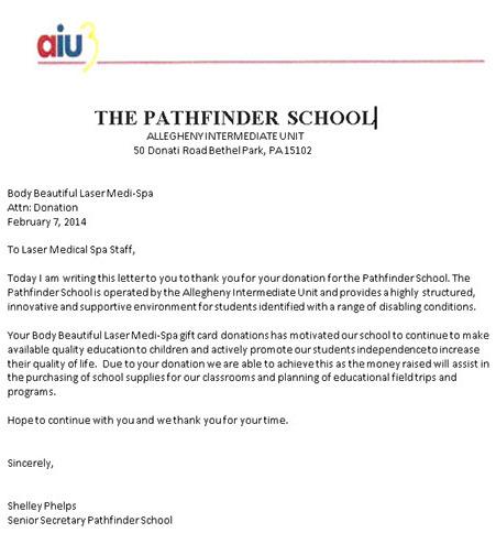 pathfinder School Donation