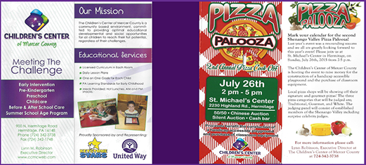 childrens center and pizza palooza body beautiful giving back to the community