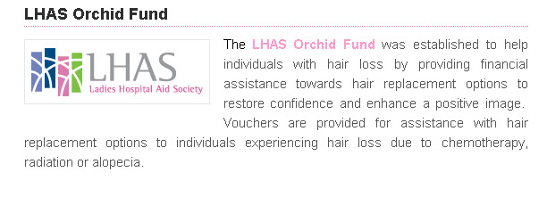 LHAS ladies hospital aid society orchid fund