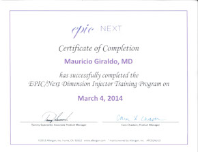 mauricio giraldo, md epic next injector training
