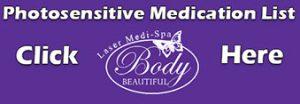 Photo Sensitive Medication List
