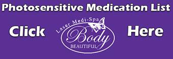 Photo Sensitive Medication, Important Information, educational list