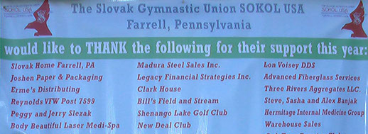 Slovak gymnastic union Sokol USA Farrell pa