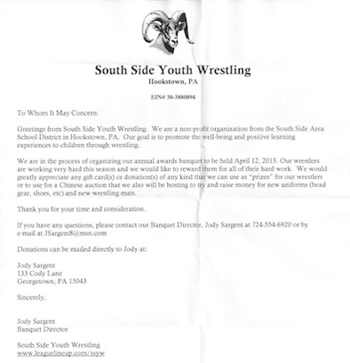 South side youth Wrestling
