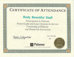Palomar Pulsed Light and Laser-systems in service by palomar
