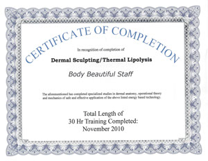 Body Beautiful Staff Dermal Sculpting