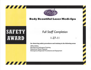 Safty award Full Staff Completion