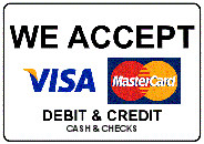 Credit and debit we accept