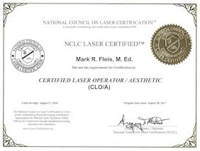 Marks Laser Re-certification