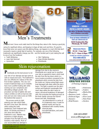 Mens magazine article treatments
