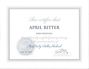April Ritter Skin Pen Cert