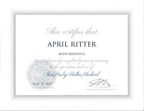 April Ritter Skin Pen Cert
