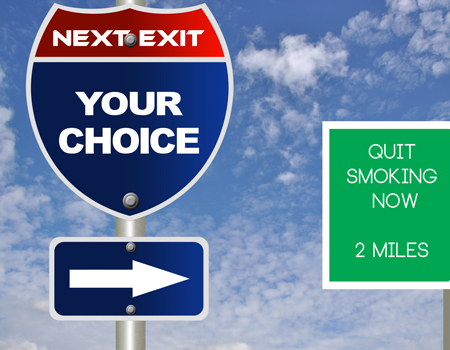 highway sign quit smoking next exit