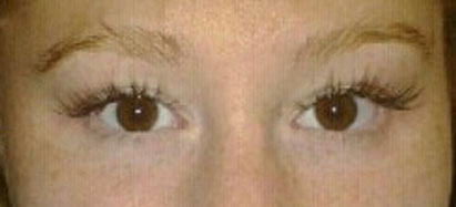 Lash extensions after