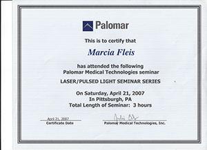 marcia fleis hale palomar medical technologies seminar laser-pulsed light seminar series