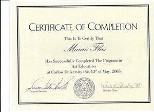 marcia fleis the program in art education at carlow university