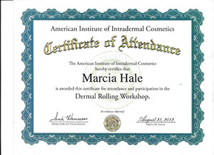 marcia hale american institute of intradermal cosmetics dermal rolling workshop