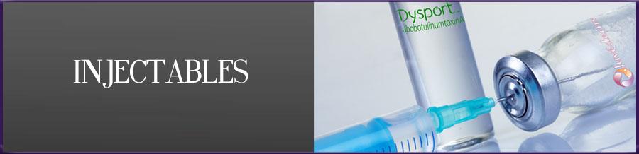 Injectables, Fillers, Restylane Silk, Juvederm Ultra, Perlane, Voluma) or Botox, Dysport, Xeomin,