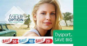 Save big on Dysport, Aspire rewards program, Galderma injectable products