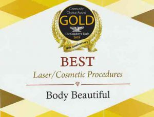 Gold BB community award Laser Cosmetic Procedures, Awards and Community Service