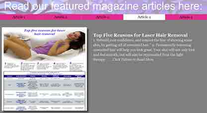 laser hair removal articles, laser hair removal journal articles, diode laser hair removal articles, laser hair removal scholarly articles, Laser Spa articles, Laser Skin Care Articles,