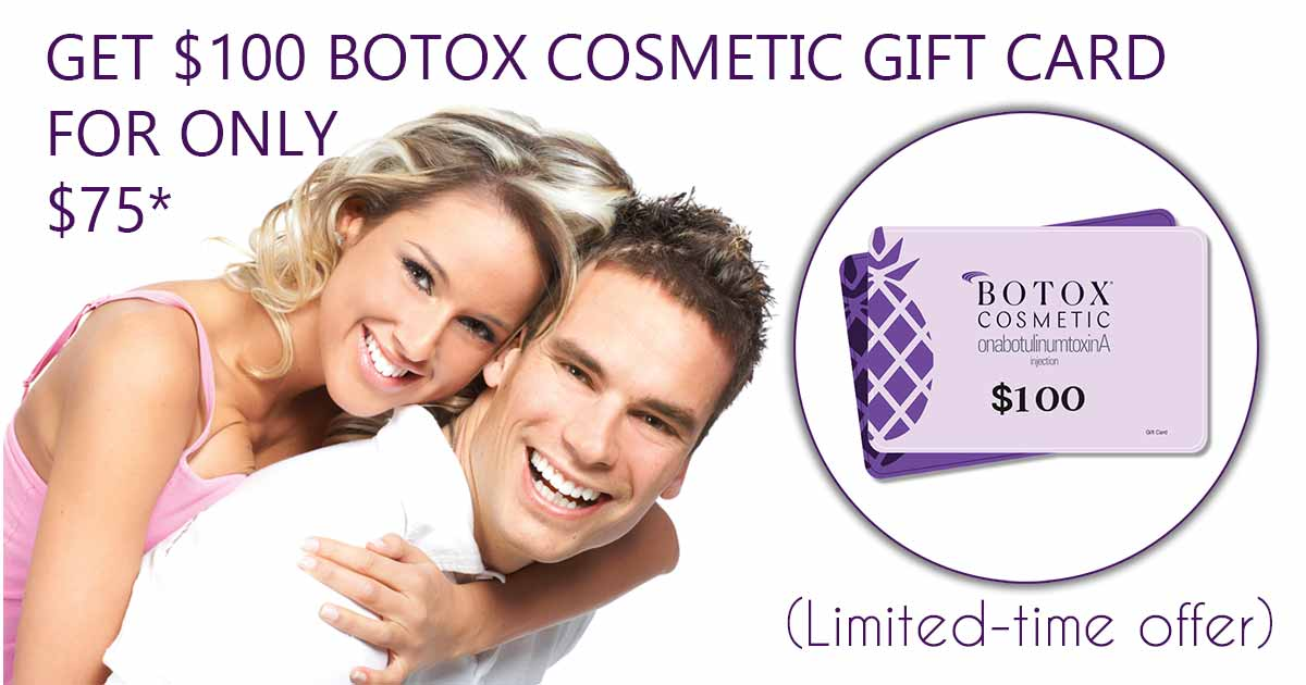 Botox gift card special near me