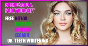 Free Botox with Purchase, Dysport, Jeuveau, Xeomin, Pittsburgh Pa, Wexford Pa, Cranberry twp pa, Hermitage pa, Grove City PA,