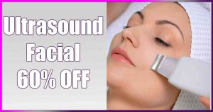 Ultrasound Facial, 60% OFF, save, money, sale, special, deal special,