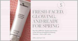 Skinmedica promo, sale, free, aha, bha, exfoliation cleanser,